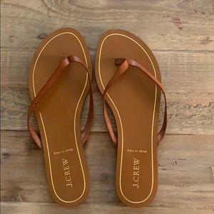 J. Crew Leather Capri Sandals